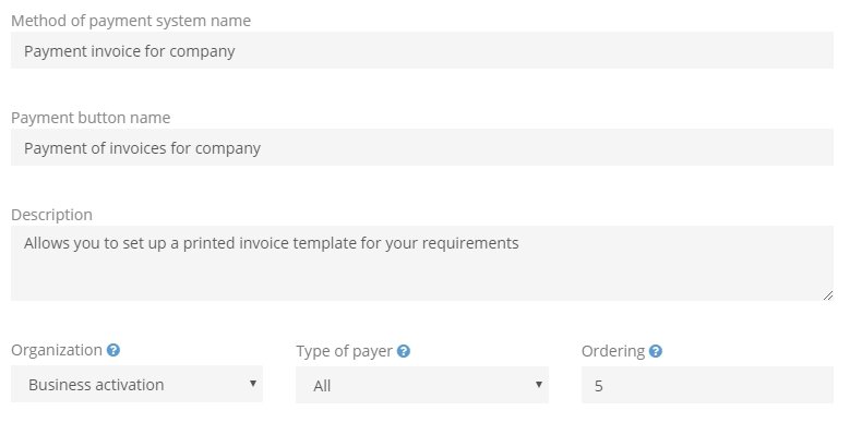 Setting An Invoice Template
