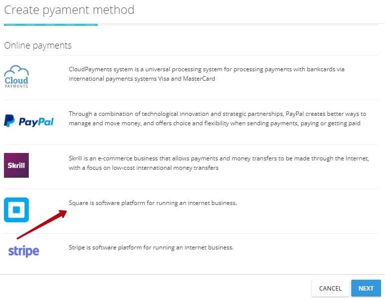 Integration With Square Payment Service - Create invoice with square