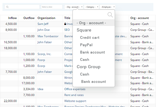 Custom Bank Accounts / FLowlu Finance Management Software