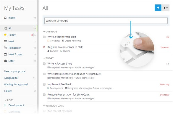 Lightning Fast Task Management